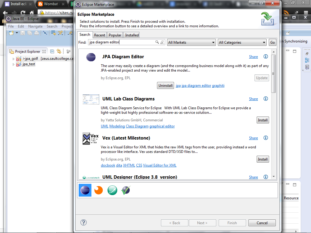 Install eclipse saultcollege search for jpa diagram editor and install it ccuart Choice Image