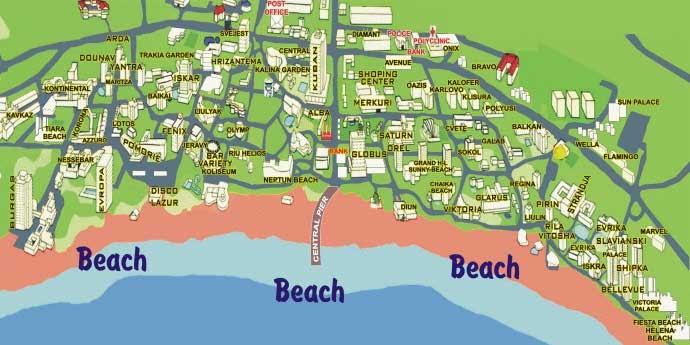 map of bulgaria sunny beach Map Directions Sunnybeach Bulgaria map of bulgaria sunny beach