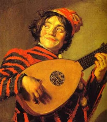 Frans Hals - 'Jester With A Lute' - Oil on wood. Louvre, Paris, France - 1620