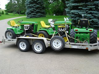 Load of tractors ready to go to the show!