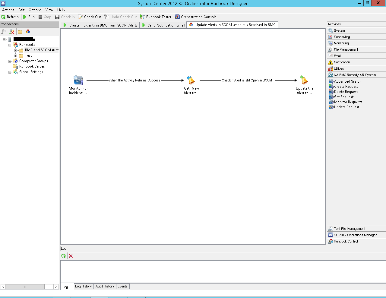 Integration Between SCOM, BMC Remedy and Orchestrator - SCOM