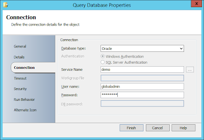 Configuring Orchestrator Query Database Activity For Oracle