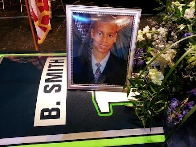 Braxton J Smith Seahawks Casket