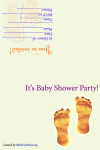 Free baby shower footprint invitations
