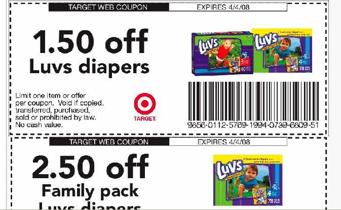 luvs diaper coupon
