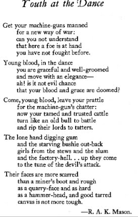 Youth at the Dance - Poems: R.A.K. Mason