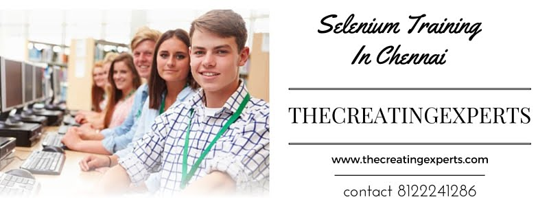 http://thecreatingexperts.com/selenium-training-in-chennai/