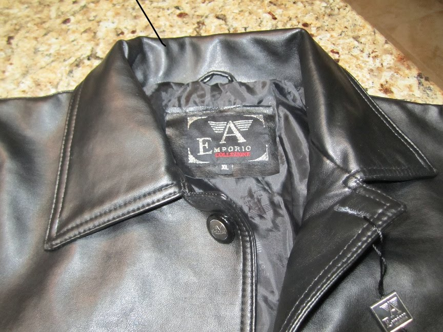 Emporio collezione leather jacket