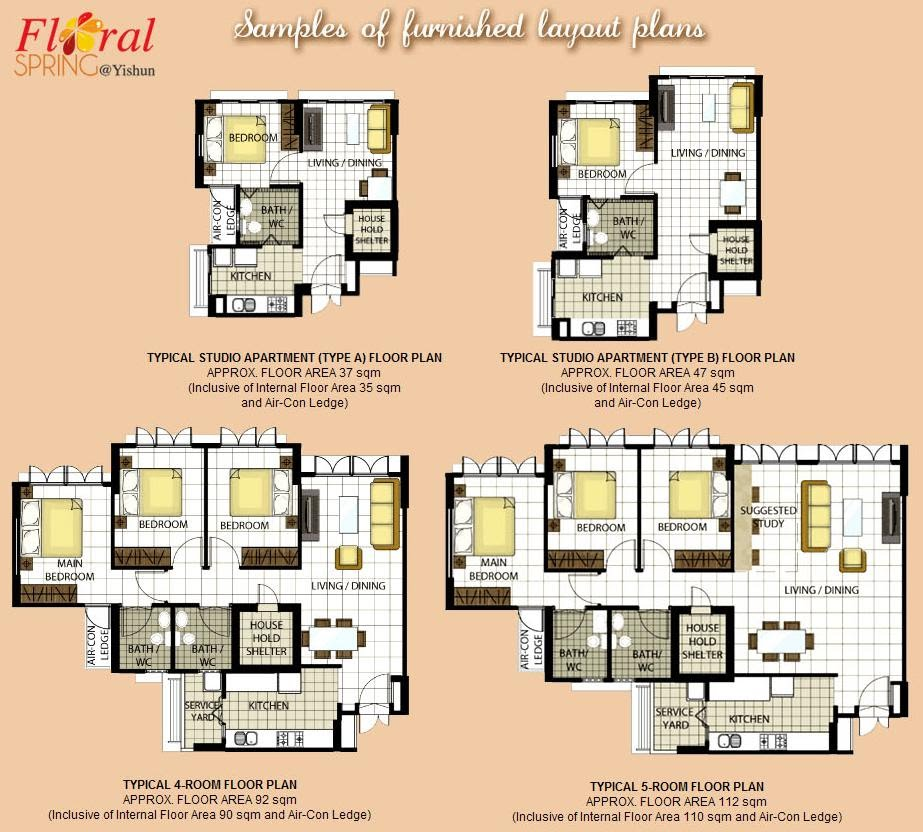 Great Furbished layout Floor plans Click on image to enlarge