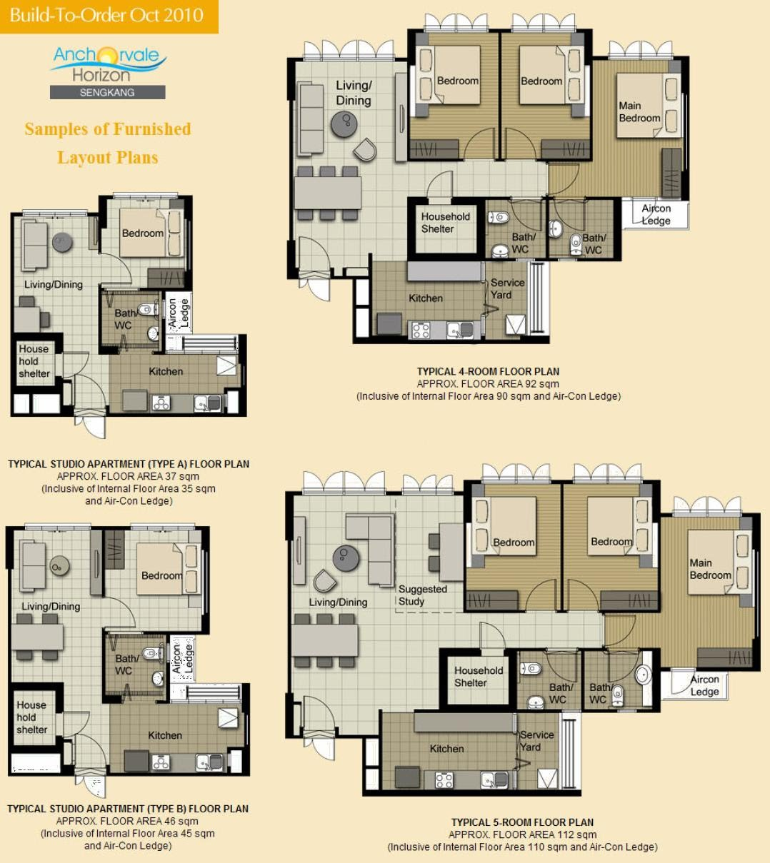 Simple Furbished layout Floor plans Click on image to enlarge