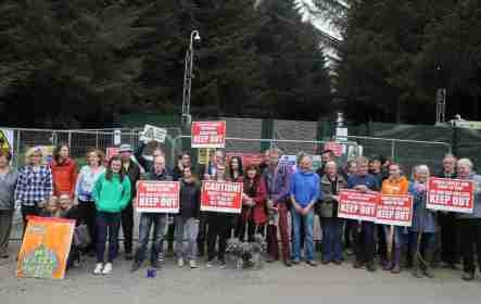 Woodburn Forest protest
