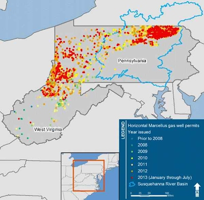 Water Resource Reporting and Water Footprint from Marcellus Shale Development in West Virginia and Pennsylvania