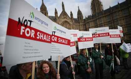 Protests against fracking for shale in London
