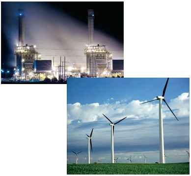 Comparing renewable energy and natural gas