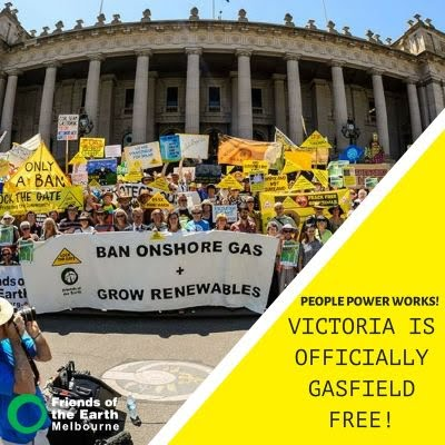 Victoria is officially gasfield free