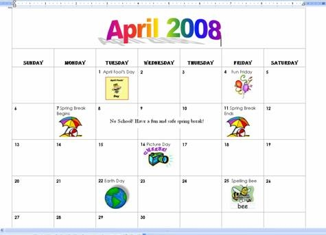 students and parents organized it gives you a quick overview of the month you can easily make a calendar by using microsoft word