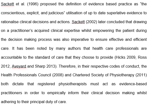 Research evidence based practice nursing essay
