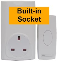doorbell with built-in socket