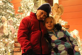 At the Danville tree lighting in 2011