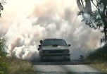 351 Ford Clevland Powered Commodore burnout
