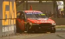 Craig Lowndes & James Courtney Crash