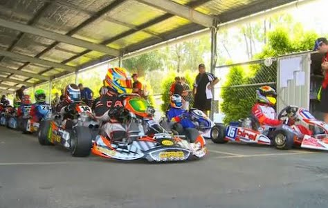 Chassis battle in the 2011 CIK Stars of Karting Series