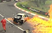 David Besnard Massive Crash Bathurst 1000 2011