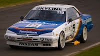 Glenn Setons Nissan Skyline Crossed Upp in the Wet