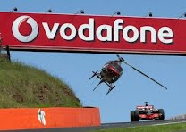 Jenson Button drives a F1 car around Bathurst