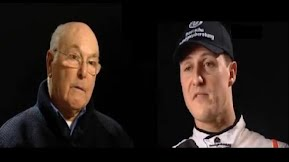 Murray Walker talks to Michael Schumacher