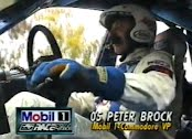 Peter Brock talking on race cam