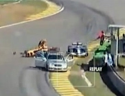 Safety car mishap
