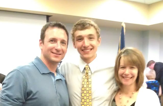 Jonah with his parents