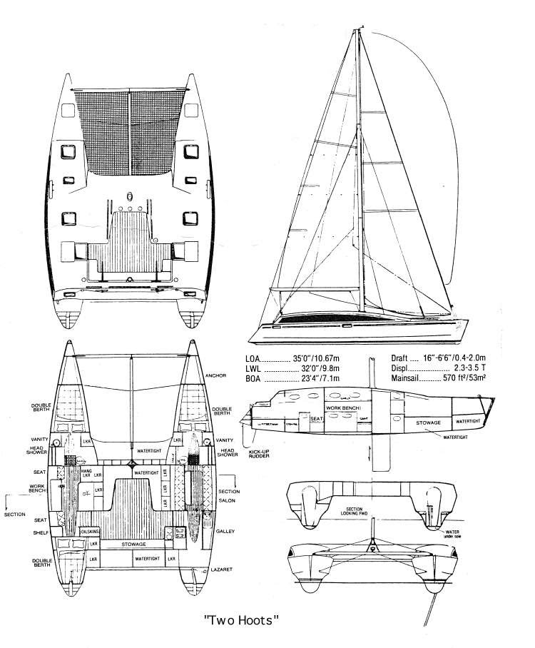 35 u0026 39  shuttleworth catamaran for sale