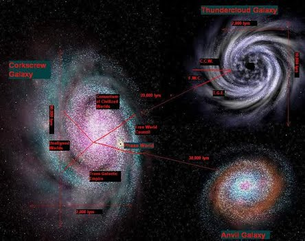 Click Here to see the full-sized Three Galaxies Map. Warning! This is a HUGE file.