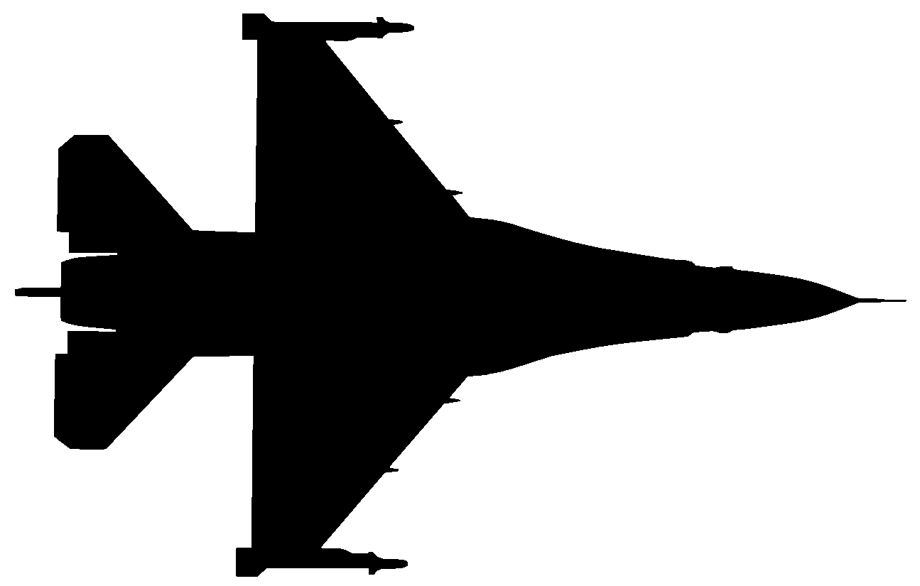 F 16 Fighting Falcon Silhuetas And Silhouettes