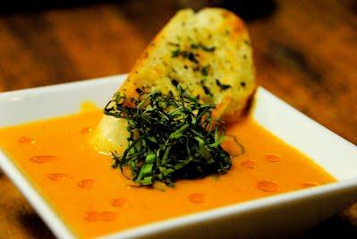 Harissa-Tomato-Basil Bisque