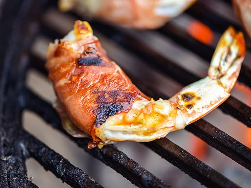 Berbere Bacon Wrapped Shrimp