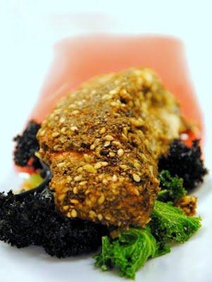 Salmon Dukkah in Blood Orange Sauce