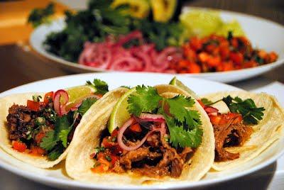 Harissa Braised Pork Tacos
