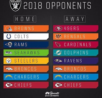 oakland raiders 2018 schedule the silver & black