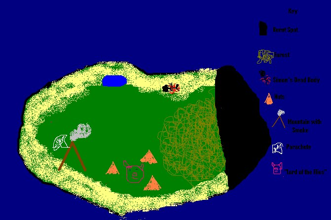 Lord Of The Flies Map Of The Island Map of