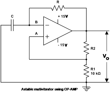 multivibrator simple_study_i t iastable multivibrator using op amp