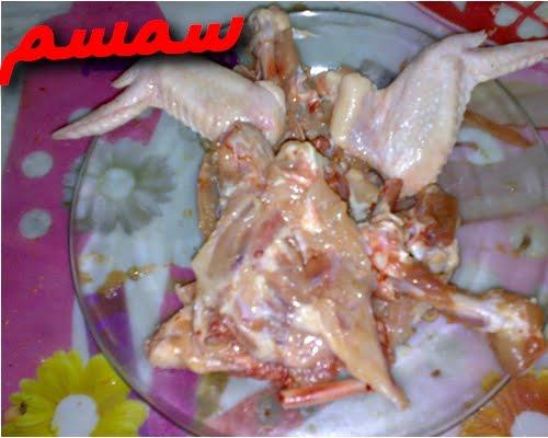 طريقة الدجاج العظم وحشوة بالخطوات