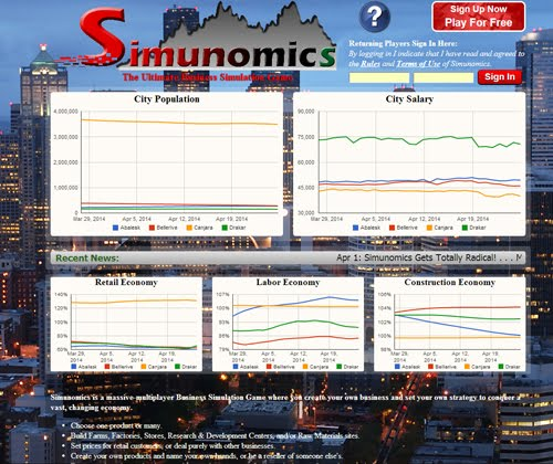 Simunomics Massive Multiplayer Business Simulation