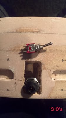 Hole for plug and switch