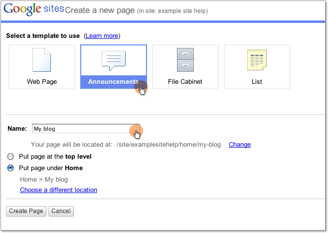 Tips template tips for How to change template on google sites