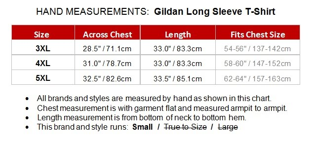 Big Men 39 S Basic Long Sleeve T Shirt By Gildan