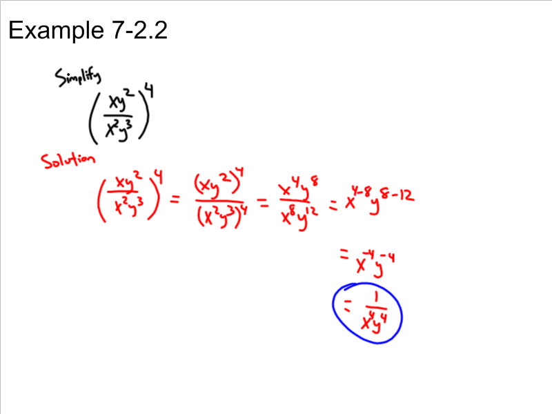 division properties of exponents