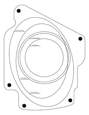 S13 Front Speaker Mount Template